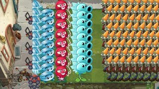 Pvz 2 - Snow Pea, Winter Melon and Electric Currant vs all Zombies