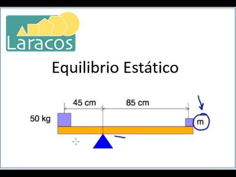 Equilibrio Estatico dos masas en los extremos de una barra