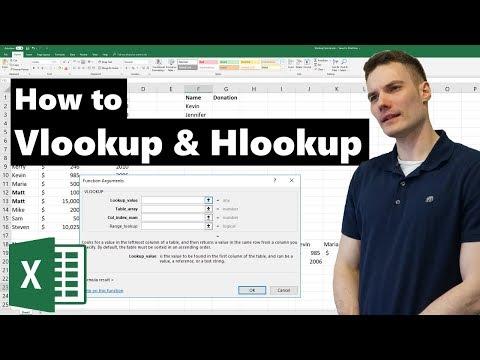 VLOOKUP & HLOOKUP in Excel Tutorial
