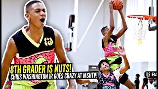 8th Grader Is Doing GROWN MAN Dunks & Has Game Like Kevin Durant! Chris Washington MSHTV Highlights!