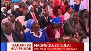HABARI ZA HIVI PUNDE:Rais Uhuru ahudhuria maombi ya wahanga wa Solai