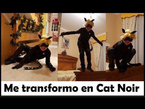 ME TRANSFORMO EN CAT NOIR Y MIRA LOS RESULTADOS - DISFRAZ DE SERIE PRODIGIOSA LADYBUG