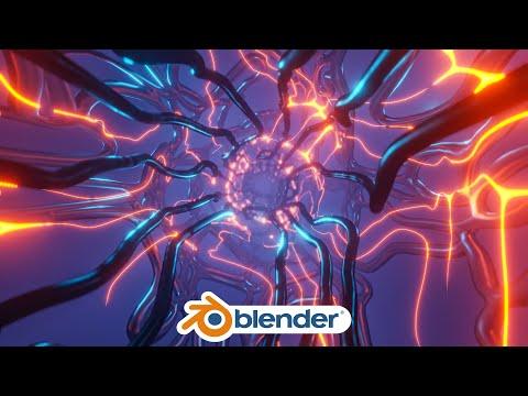 Blender - Organic Sci-Fi Animation loop in Eevee