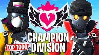 Fortnite CHAMPION DIVISION Tournament!! *Top 1000 Pro Players* (Fortnite Battle Royale)
