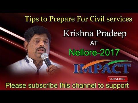 Why Need Civils   Krishna Pradeep   TELUGU IMPACT Nellore 2017
