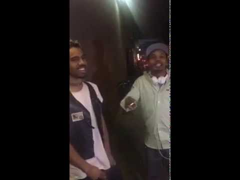 Charles Hamilton & Vic Mensa cypher freestyle at the corner