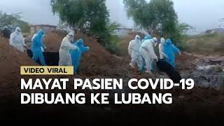 Video Viral Kantong yang Diduga Berisi Jenazah Pasien Covid-19 Dibuang ke Lubang, Terjadi di India