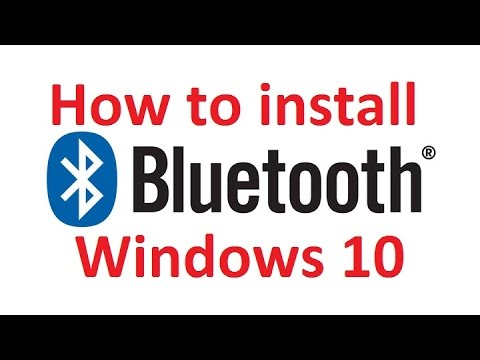 Install Bluetooth in windows 10 easy |No Driver