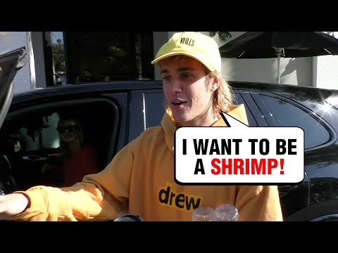 Justin Bieber FUNNY INTERVIEW, Says Wants To Be A Shrimp