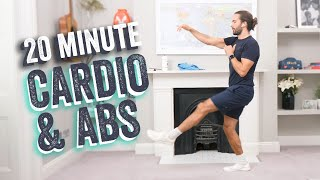 NEW!!!! 20 Minute FAT BURNING Cardio & Abs HOME HIIT Workout | The Body Coach TV