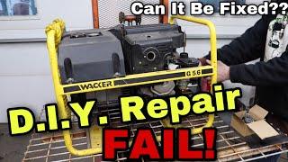 D.I.Y. Generator Repair FAIL - Can It Be Fixed??
