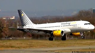 preview picture of video 'Vueling Airlines Airbus A319 EC-JVE landing & takeoff at Toulouse-Blagnac [TLS/LFBO]'