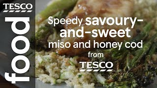 Speedy savoury-and-sweet miso and honey cod