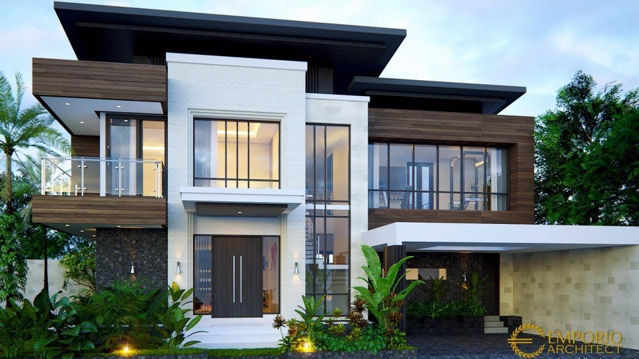 Video 3D Desain Rumah Modern 2 Lantai Bapak Ivan di Palembang