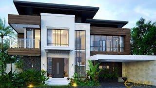 Video Desain Rumah Modern 2 Lantai Bapak Ivan di  Palembang