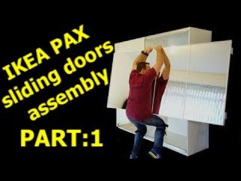 IKEA PAX WARDROBE Sliding doors assembly (Part 1)