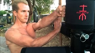 Modern Day WOODEN DUMMY Training - Wing Chun IRON MASTER - Bruce Lee & Ip Man Missed Out!