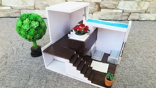 How To Make House  -  Foam Board Architectural Models/ Dollhouse  //  Miniature Crafts