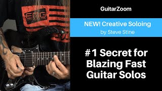 #1 Secret for Blazing Fast Guitar Solos | Creative Soloing Workshop