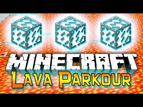 Minecraft: Red vs Blue Lava Parkour Mini-Game Challenge