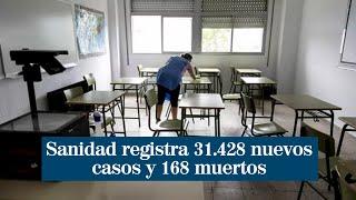 Coronavirus España: Sanidad registra 31.428 nuevos casos y 168 muertos