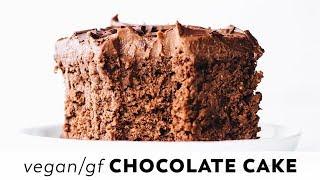 Vegan Chocolate Cake // Gluten-free + Oil-free