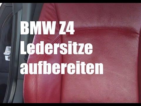 BMW Z4 Lederreinigung mit B&E Sattelseife und Bienenwachs Lederpflege Balsam
