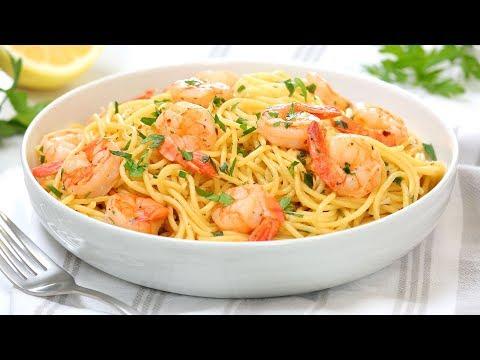 Shrimp Scampi Pasta | 15 Minute Dinner Recipe | Quick + Easy + Delicious