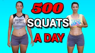500 SQUATS A DAY 30 DAY SQUAT CHALLENGE | My Before And After Results