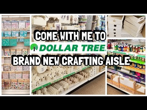 AMAZING COME WITH ME TO DOLLAR TREE| NEW CRAFTING SECTION YOU GOTTA SEE