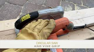 CUT 2X4 WOOD EASILY WITH CIRCULAR SAW AND VISE GRIP