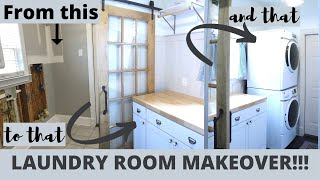 Laundry Room Makeover | Small Space Design | Multi-purpose Room With Pantry