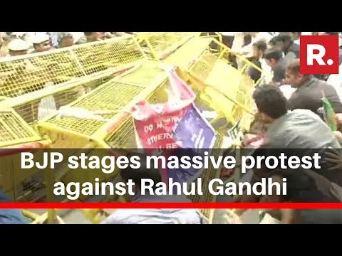 Republic TV Reports From Delhi As BJP Stages Massive Protest Against Rahul Gandhi