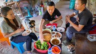 Mountain FOOD PARADISE!! 🐸 Backyard Foraging + 2 Village Lunches! | Sakhon Nakhon, Thailand