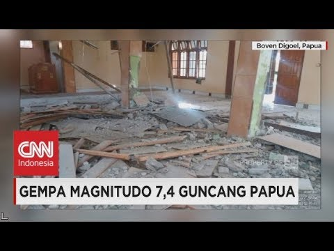 Gempa 7,4 SR Guncang Papua