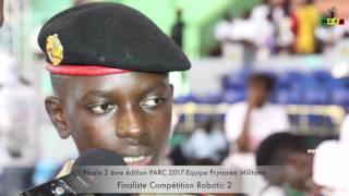 Finale 2 ème édition PARC 2017 Equipe Prytanée Militaire Finaliste Compétition Robotic 2