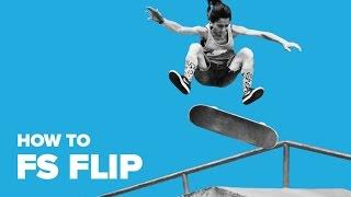 Смотреть онлайн Обучение трюку Фронтсайд флип на скейтборде