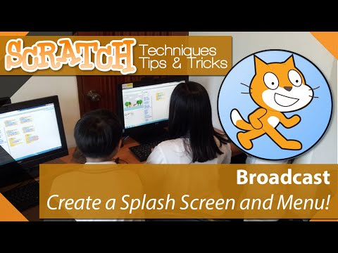 Scratch – Tutorial 07 – Create a Game Menu and Splash screen using Broadcast
