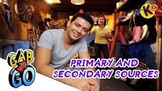 Grade 8 Filipino | Primary and Secondary Sources | Gab To Go