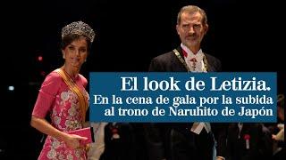 El look de Letizia en la cena de gala por el ascenso al trono de Naruhito de Japón