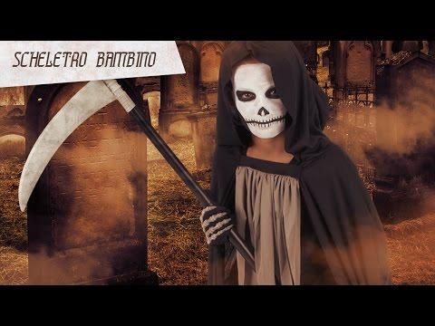 Trucco da scheletro per bambino speciale Halloween