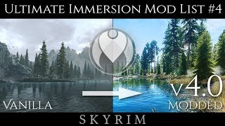 v4.0 COMPLETE ULTIMATE IMMERSION SE MOD LIST | Skyrim Special Edition