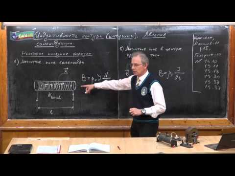 Урок 287. Индуктивность контура (катушки). Явление самоиндукции