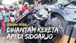 Sebuah Mobil Tertabrak Kereta Api di Sidoarjo, 1 Orang Meninggal Dunia