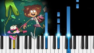 Amphibia Theme Song   Piano Tutorial [NEW DISNEY SERIES]