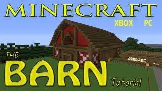 Minecraft EASY BARN Tutorial With SCHEMATICS