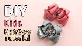How To Make A  Boutique Hair Bow/Kids Hair Clip Tutorial/ DIY Hairaccesory/리본핀 만들기
