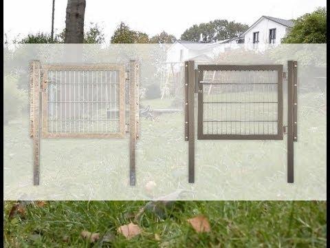Tetzner und Jentzsch  Doppelstabmatten Gartentor Montageanleitung