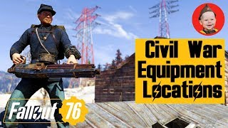 Fallout 76 Where to find Civil War Uniforms and Guns
