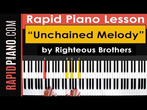 """How To Play """"Unchained Melody"""" by Righteous Brothers  - Piano Tutorial & Lesson - (Part 1)"""